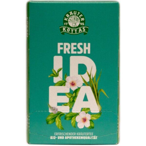Fresh idea je super osvežilna in nežna čajna mešanica s hibiskusom, meliso, meto in citronko. Fresh idea daje energijo in pomaga pri utrujenosti.