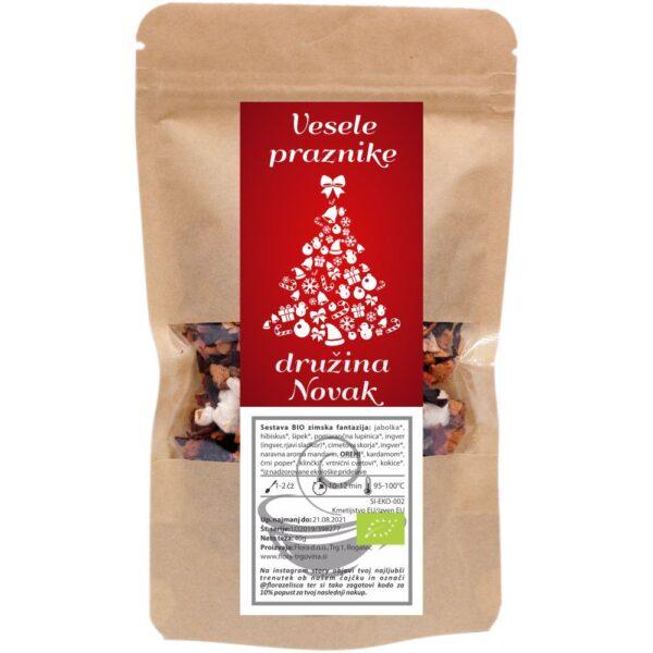 Darila za božič s personalizirano noto. Namesto z voščilnico, božič in novo leto voščite s personaliziranim čajem.
