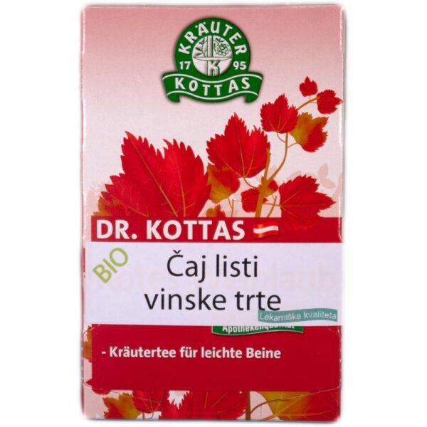 Listi vinske trte pomagajo ohranjati celovitost venskega sistema in so odlični pri težavah s krčnimi žilami.