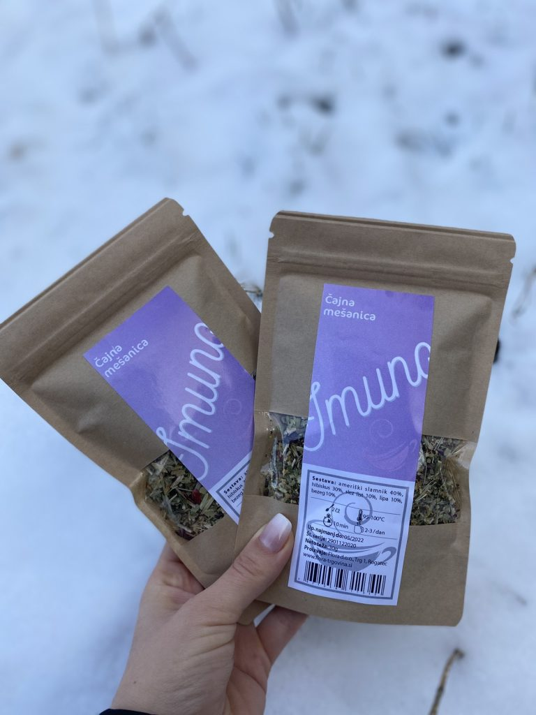 Dve vrečki čaja imuno
